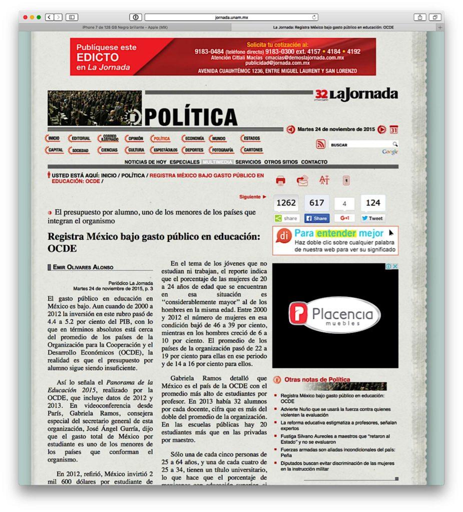 Ejemplo de Nota periodística
