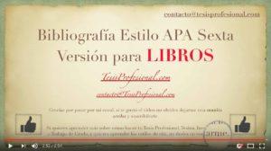 Bibliografía en Estilo APA Sexta Versión